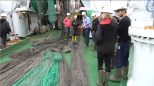During a survey on the research vessel Håkon Mosby in Byfjorden. Photo J. Soulé, 12/9/2016.