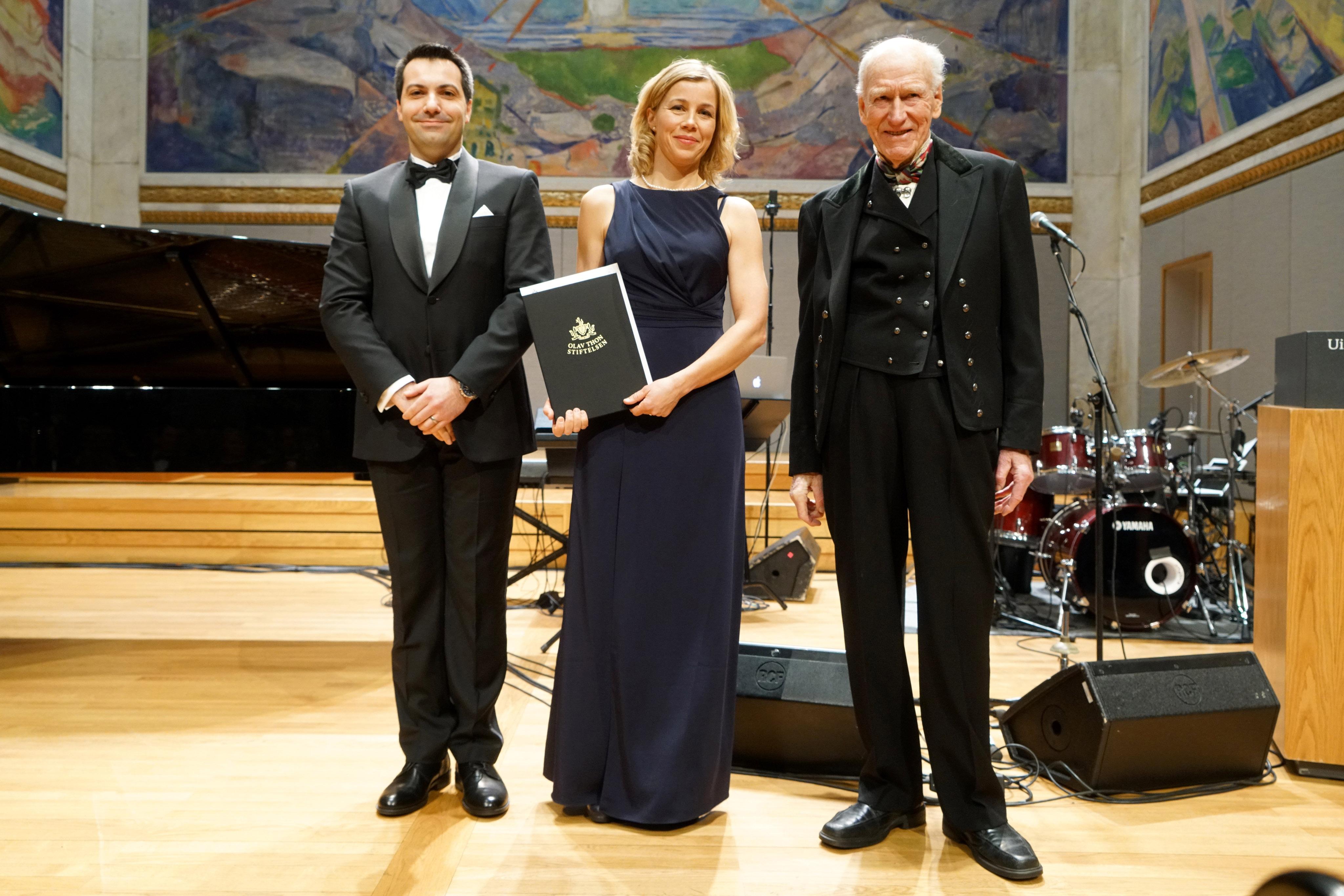 UiO - Olav Thon Stiftelsen prisutdeling i Universitetets aula 2. mars 2017